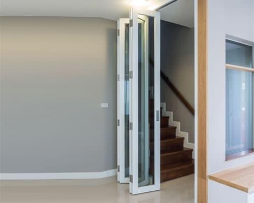 White Bi Fold Doors