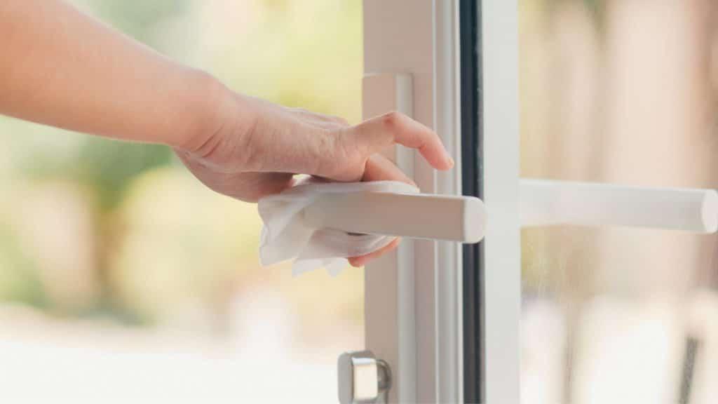 clean door handles
